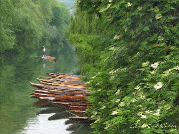 Beautiful Poster featuring the digital art The Neckar River by Nikolay Vakatov