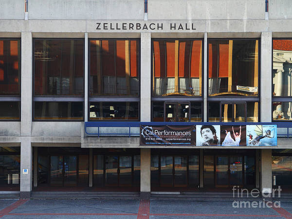 Zellerbach Poster featuring the photograph Uc Berkeley . Zellerbach Hall . 7d9989 by Wingsdomain Art and Photography