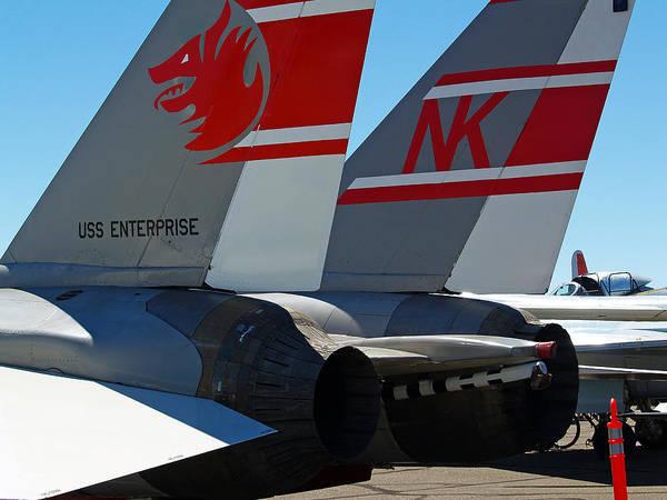 Jet Poster featuring the photograph Uss Enterprise by Joe Fernandez