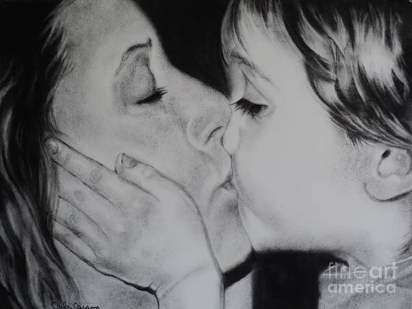 Mother Poster featuring the drawing A Mothers Love by Carla Carson