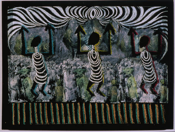 Africa Poster featuring the painting All This Country Belongs To Us by Barbara Nesin