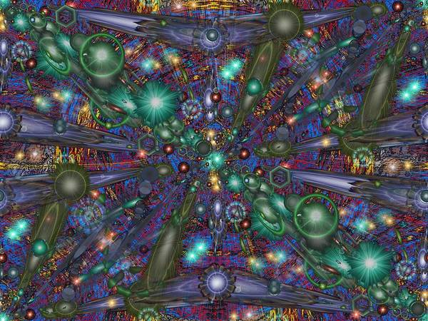 Abstract Poster featuring the digital art Astral Elixir by Tim Allen