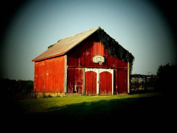 Barn Poster featuring the photograph Basketball Barn by Michael L Kimble