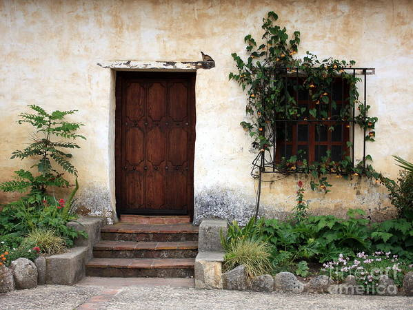 Carmel Mission Poster featuring the photograph Carmel Mission Door by Carol Groenen