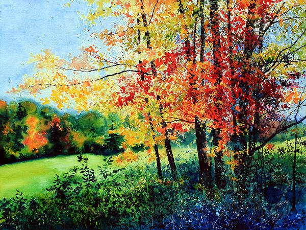 Fall Landscape Art Poster featuring the painting Fall Color by Hanne Lore Koehler