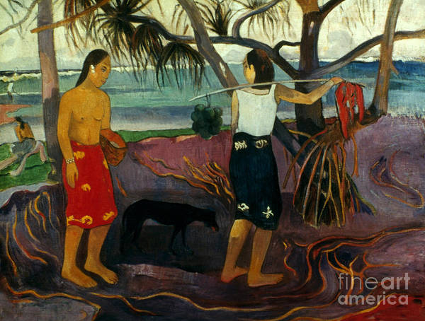 1891 Poster featuring the photograph Gauguin: Pandanus, 1891 by Granger