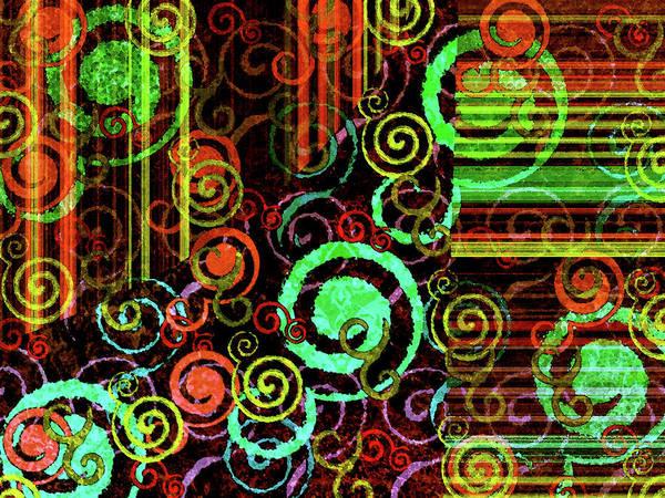 Digital Art Poster featuring the digital art Hoopla by Bonnie Bruno