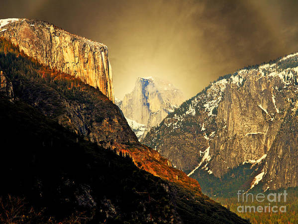 Landscape Poster featuring the photograph In The Presence Of God by Wingsdomain Art and Photography