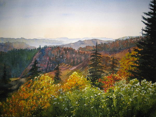 Newfound Gap Poster featuring the painting Newfound Gap by Shirley Braithwaite Hunt
