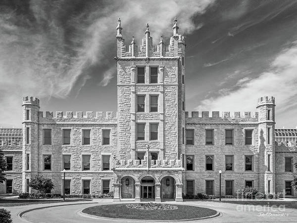 Altgeld Hall Poster featuring the photograph Northern Illinois University Altgeld Hall by University Icons