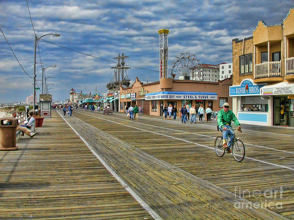 Ocean City Poster featuring the photograph Ocean City Boardwalk by Edward Sobuta