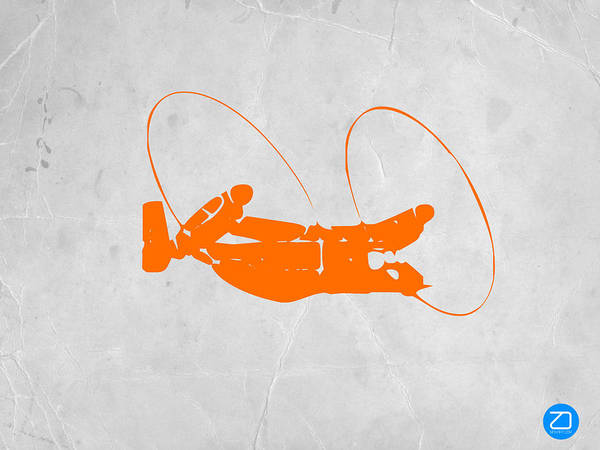Plane Poster featuring the photograph Orange Plane by Naxart Studio