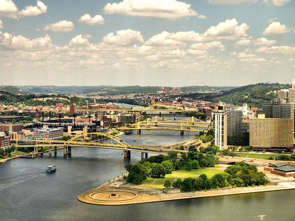 Hdr Poster featuring the photograph Pittsburgh Hdr by Arthur Herold Jr