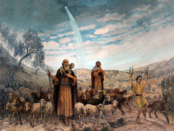 Photo Poster featuring the painting Shepherds Field Painting by Munir Alawi
