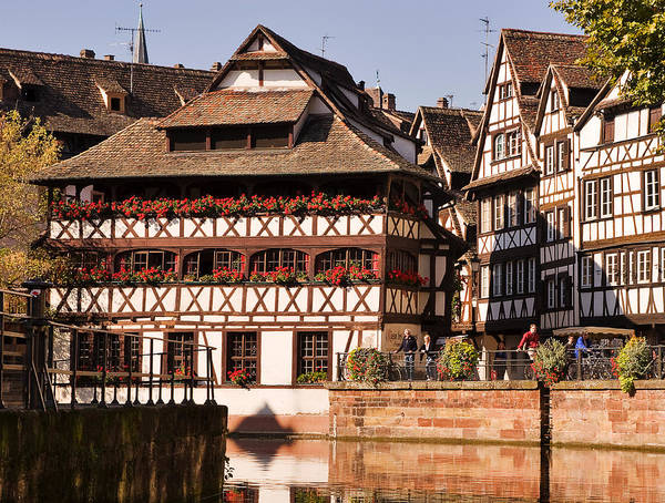 Travel Poster featuring the photograph Tanners House Strasbourg by Louise Heusinkveld