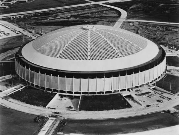 1970s Poster featuring the photograph The Astrodome Aka The Eighth Wonder by Everett