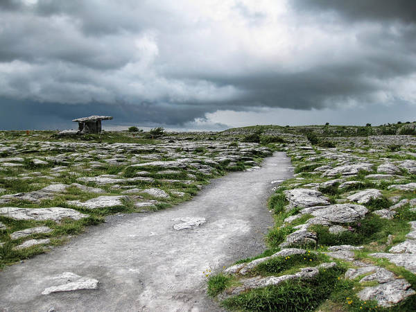 Ireland Poster featuring the photograph The Dolmen In The Burren by Menega Sabidussi