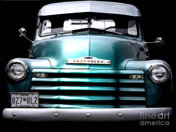 Vintage Poster featuring the photograph Vintage Chevy 3100 Pickup Truck by Steven Digman