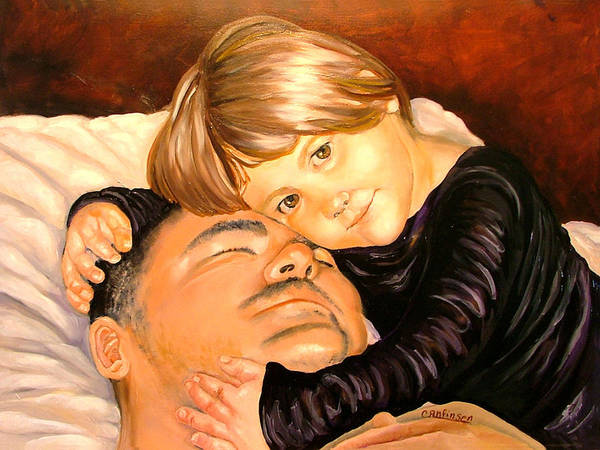 Child Poster featuring the painting With These Hands--love by Carol Allen Anfinsen