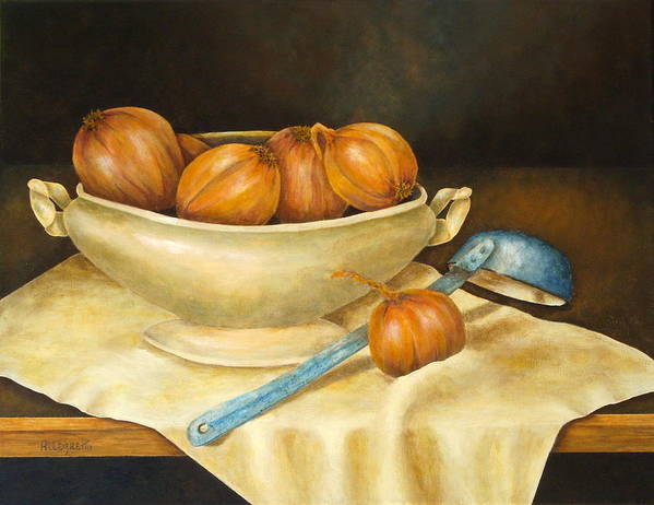 Allegretto Art Poster featuring the painting Venetian Table by Pamela Allegretto