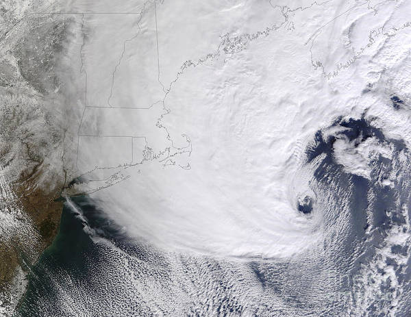 Snowstorm Poster featuring the photograph A Winter Storm Over Eastern New England by Stocktrek Images