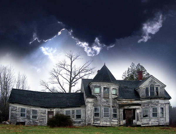 House Poster featuring the photograph Haloween House by Skip Willits