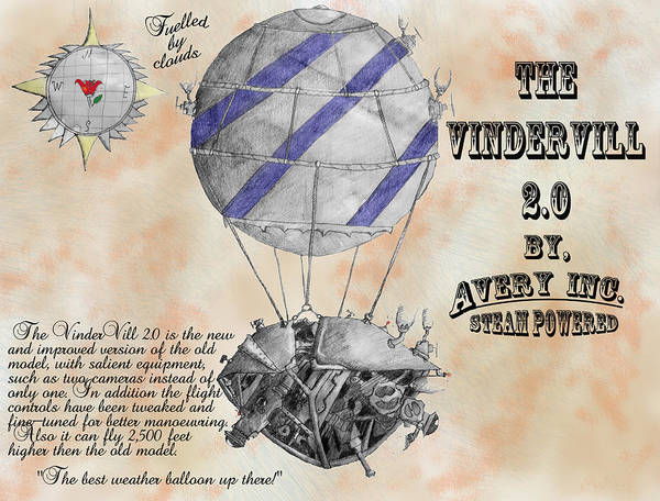 Graphite Poster featuring the mixed media Vindervill 2.0 by Avery Taylor