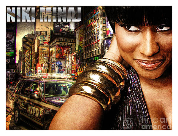 Niki Poster featuring the digital art Niki Minaj by The DigArtisT