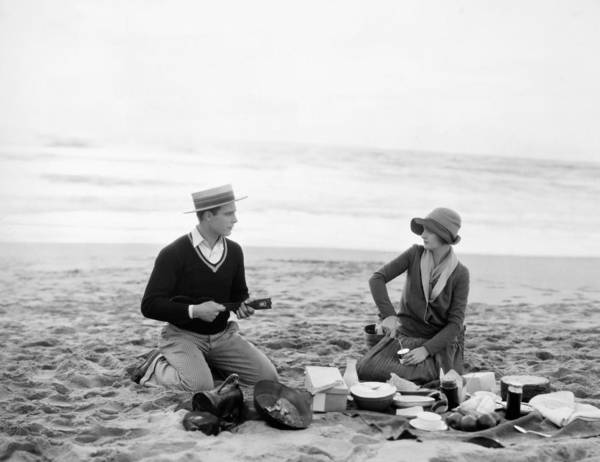 -picnic- Poster featuring the photograph Silent Film Still: Picnic by Granger