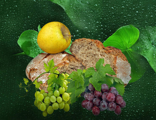 Eat Poster featuring the photograph Bread by Manfred Lutzius
