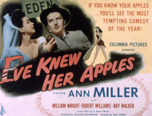 1940s Movies Poster featuring the photograph Eve Knew Her Apples, Ann Miller by Everett