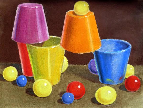 Ball Poster featuring the painting Playground by Irina Sztukowski