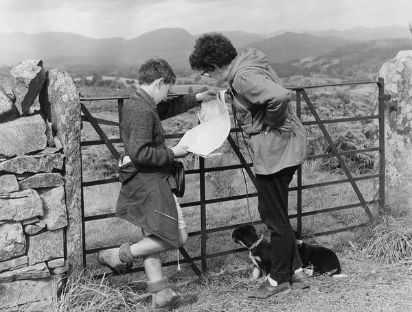 Pre-adolescent Child Poster featuring the photograph Where Are We ? by Turner