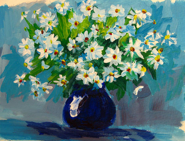 Daisies Poster featuring the painting Beautiful Daisies by Patricia Awapara