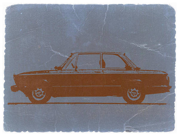 Poster featuring the photograph Bmw 2002 Orange by Naxart Studio