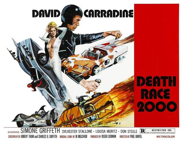 1970s Poster Art Poster featuring the photograph Death Race 2000, From Left Simone by Everett