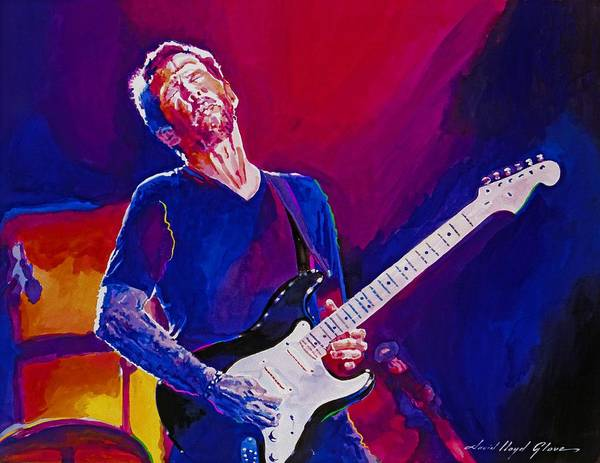 Eric Clapton Poster featuring the painting Eric Clapton - Crossroads by David Lloyd Glover