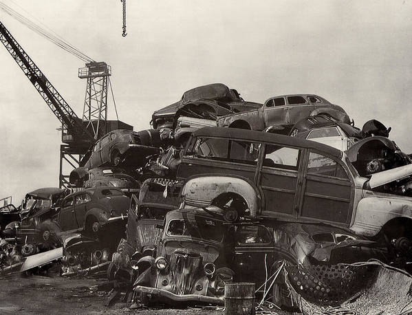Framed Photography Art Of Woody�s. Junk Yard Art. Framed Black And White Photos Of Junk Yard Cars. Black And White Prints Of Woody�s. Prints Of Cool Wood-paneled Station Wagons. Wrecked 1946 Ford Woody�s. Prints Of 1941 Chrysler Town & Country Convertibles. Prints Of 1948 Ford Sportsmen Convertibles. Prints Of 1950 Ford Woody�s. Poster featuring the photograph Field Of Woody Dream Cars by Jack Pumphrey