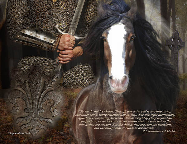 Horse Poster featuring the photograph Hope In Corinthians by Terry Kirkland Cook