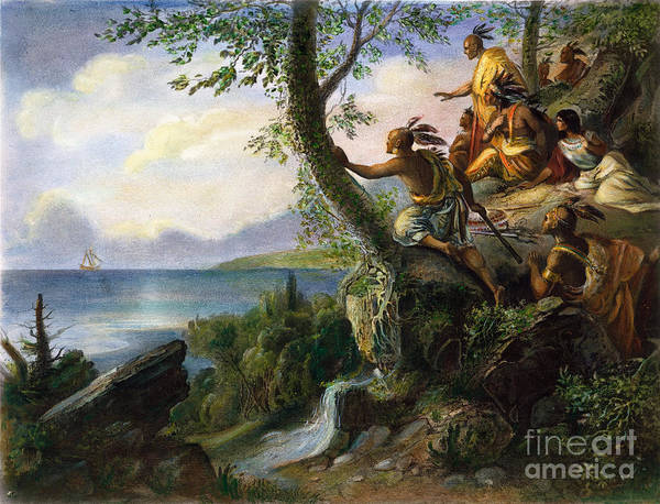 1609 Poster featuring the painting Hudson: New York, 1609 by Granger