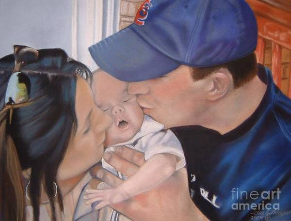 Kiss Poster featuring the painting Kisses For Baby by Terri Thompson