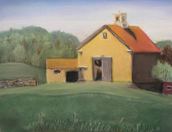 Landscape Poster featuring the pastel Merril Farm by Kimberly Abraham