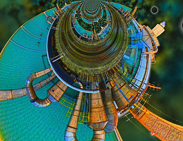 Abstract Poster featuring the digital art Processing Point 2 by Wendy J St Christopher