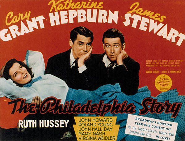 1940 Movies Poster featuring the photograph The Philadelphia Story, Katharine by Everett