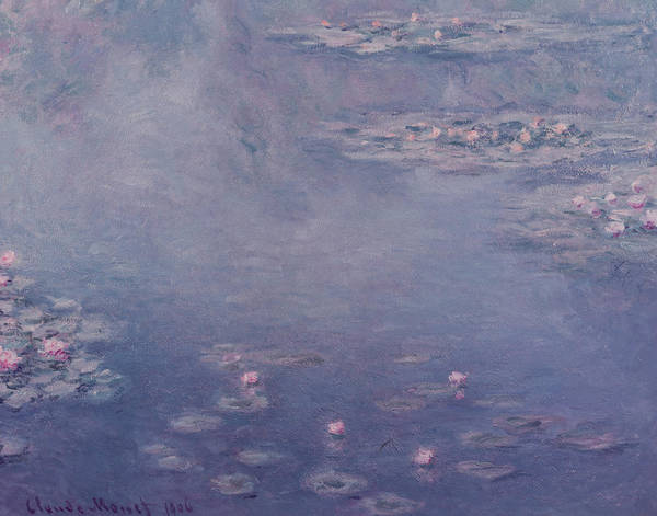 Waterlilies; Waterlily; Water-lilies; Flowers; Impressionist Poster featuring the painting Nympheas by Claude Monet