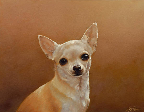 Chihuahua Poster featuring the painting Chihuahua I by John Silver