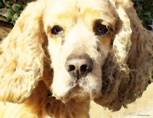 Cocker Spaniel Poster featuring the painting Cocker Spaniel Art - Mellow Yellow by Sharon Cummings