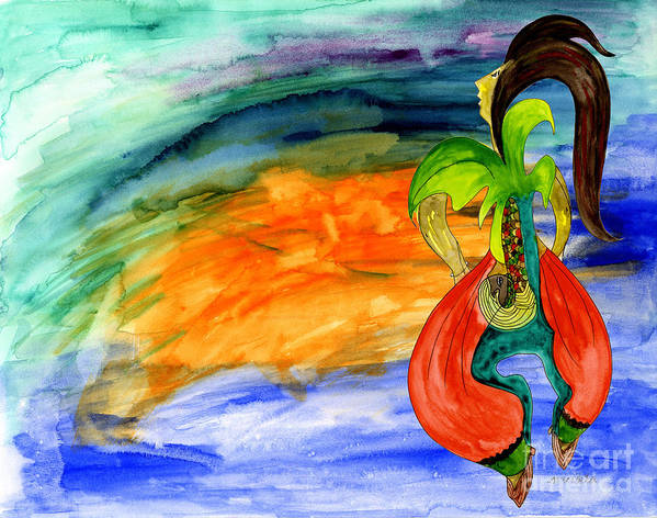 Dancing Tree Of Life Poster featuring the painting Dancing Tree Of Life by Mukta Gupta