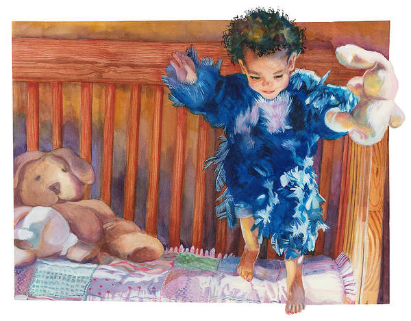 Baby Poster featuring the painting First Flight by Maureen Dean