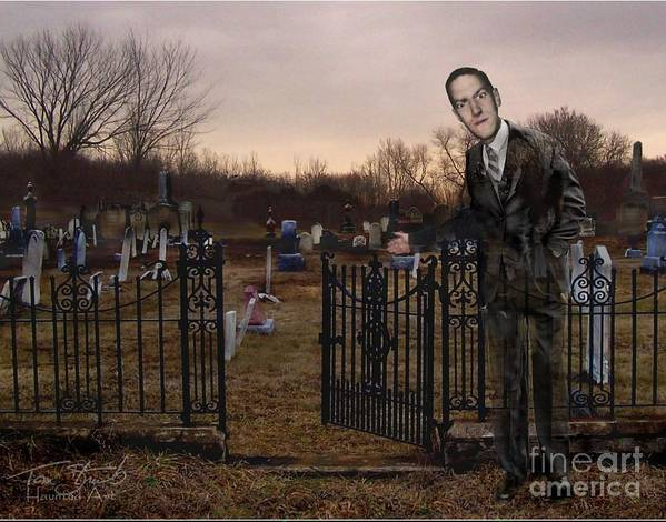 Howard Phillips Lovecraft Poster featuring the photograph Lovecraft by Tom Straub